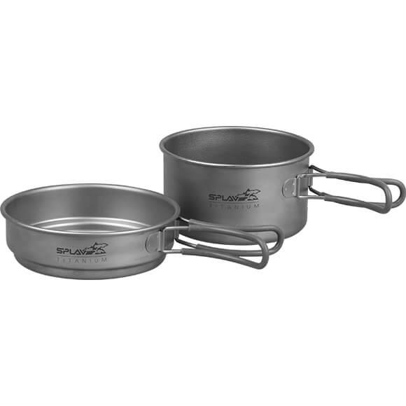 Набор титановой посуды 1 кастрюля, 1 сковородка 1250+800