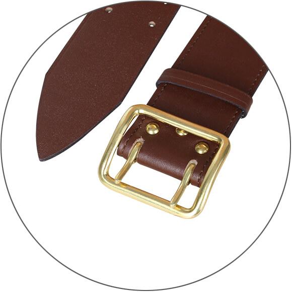 Ремень офицерский кожаный на кож. подкладке